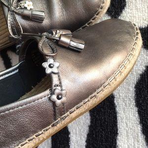 12b90ee65 Coach Shoes | Madison Gunmetal Espadrille | Poshmark